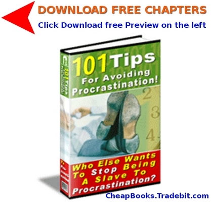 Product picture 101 Tips For Avoiding Procrastination with FREE CHAPTERS