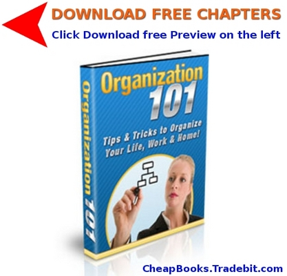 Product picture Organization 101 with FREE CHAPTERS