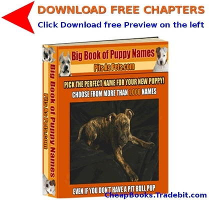 Product picture Big Book of Puppy Names with FREE CHAPTERS